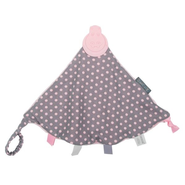 Teething comforter cheeky chompers polka dot 1