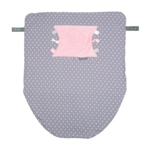 Baby blanket polka dot cheeky chompers 1