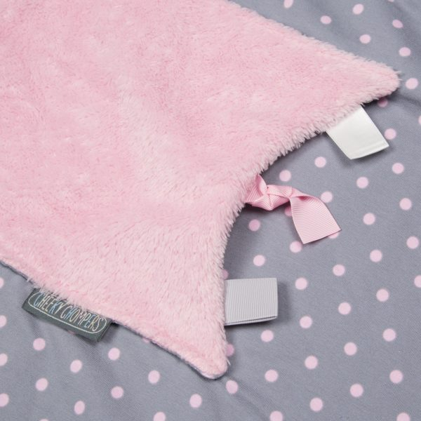 Baby blanket polka dot cheeky chompers 5