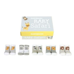 Baby socks safari animals