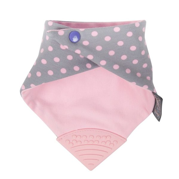 Teething bib cheeky chompers polka dot 2