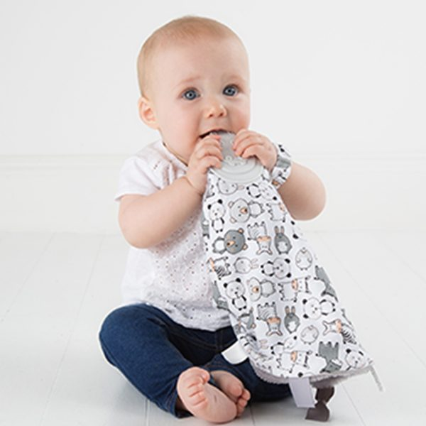 Teething comforter cheeky chompers panda 3