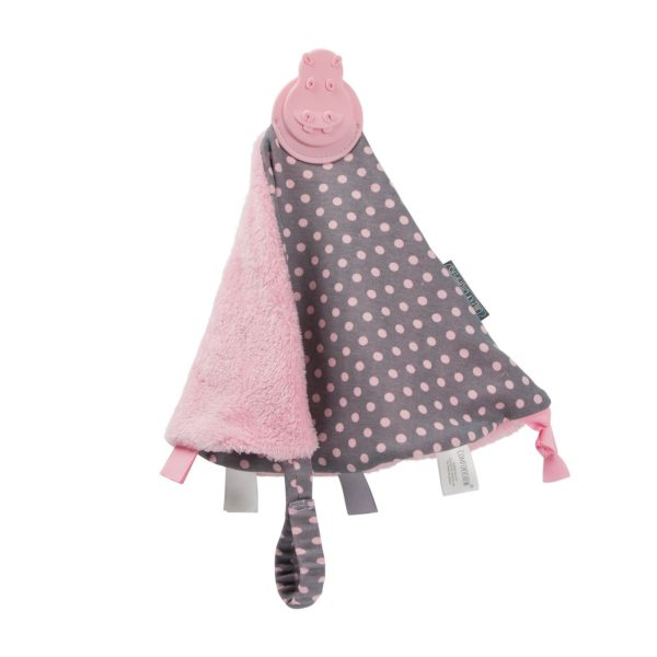 Teething comforter cheeky chompers polka dot 3