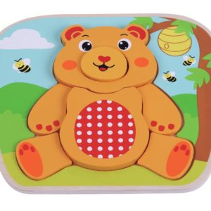 Bear puzzle wooden toy 1