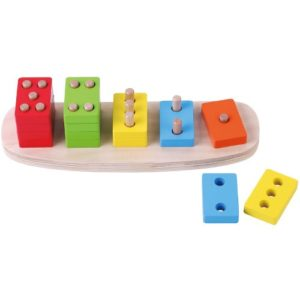 16 piece wooden number puzzle.