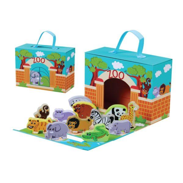 Foldaway Zoo wooden toy