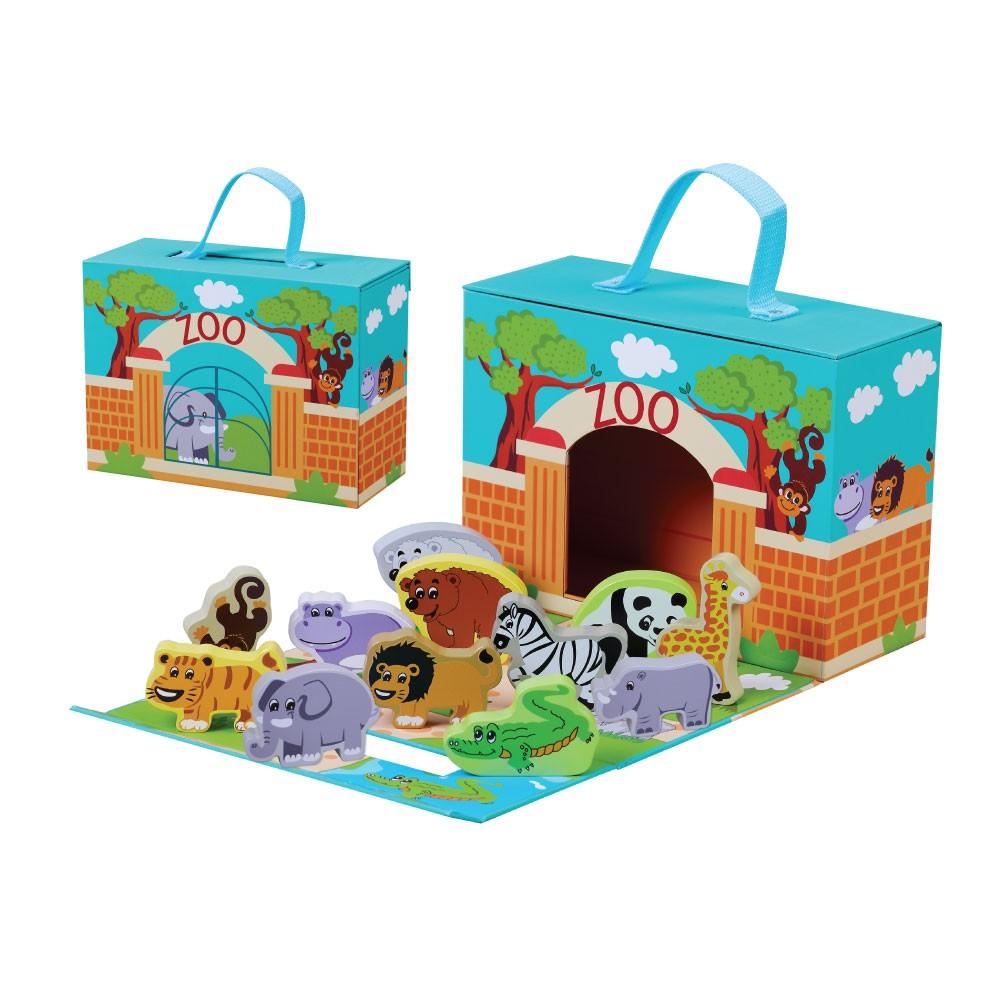 Foldaway Wooden Zoo Toy