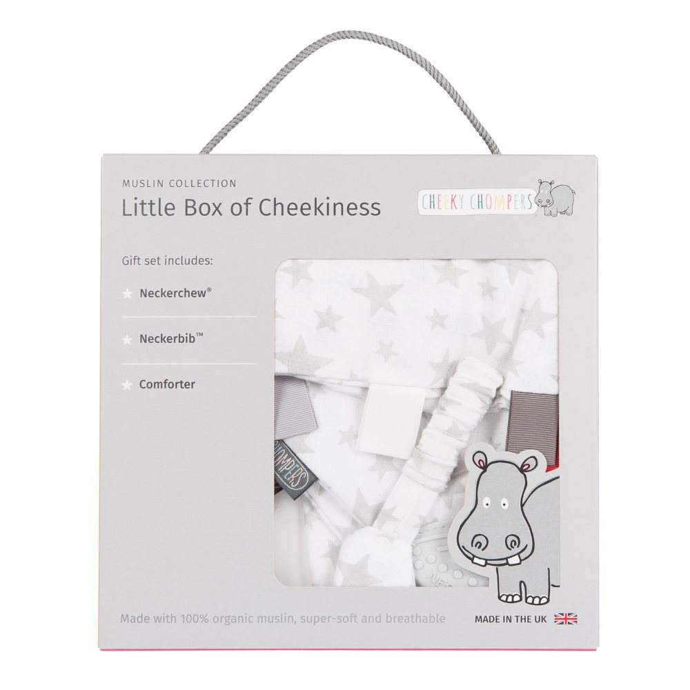 Muslin - gift box - Cheeky Chompers - Stars 1