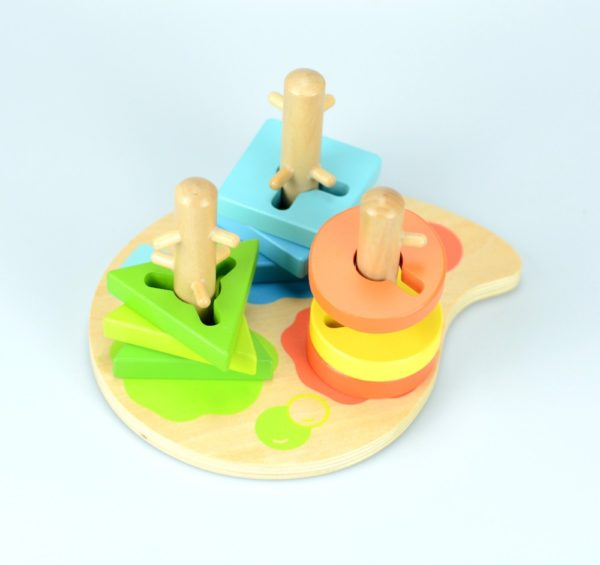 Peg puzzle wooden toy 2