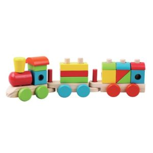 Train blocks wooden toy