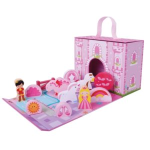 Unicorn castle wooden toy