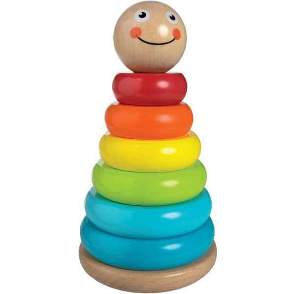 Wobbly stacker wooden toy