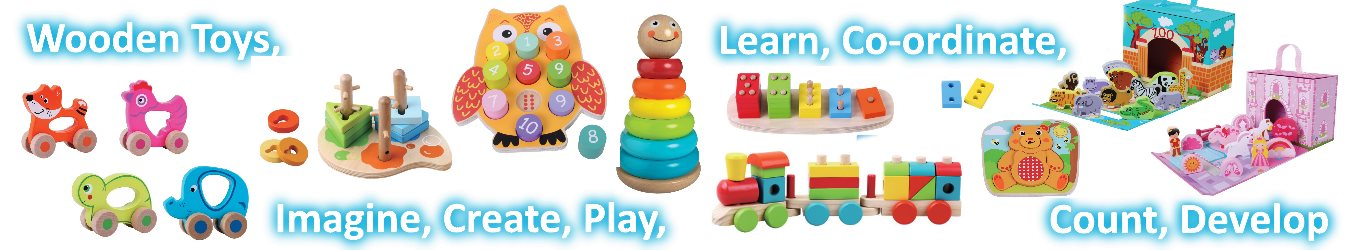 Wooden toys banner