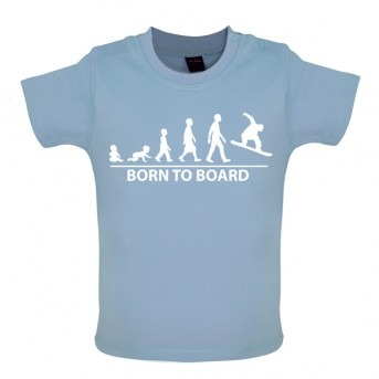 Born To Board - Baby and Toddler T-shirt - Blue