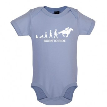 Born To Horseride - Baby and Toddler Bodysuit - Blue