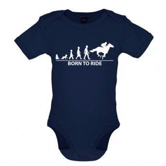 Born To Horseride - Baby and Toddler Bodysuit - Navy