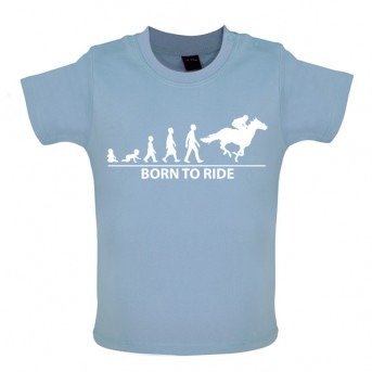 Born To Horseride - Baby and Toddler T-shirt - Blue