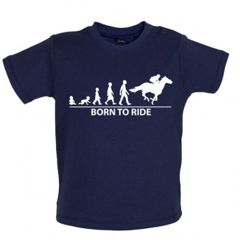 Born To Horseride - Baby and Toddler T-shirt - Navy