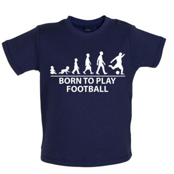 Born To Play Football - Baby and Toddler T-shirt - Navy