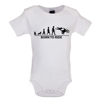 Born To Ride - Baby and Toddler Bodysuit - White