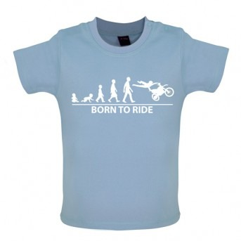 Born To Ride - Baby and Toddler T-shirt - Blue