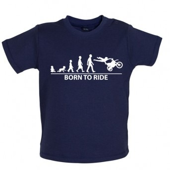 Born To Ride - Baby and Toddler T-shirt - Navy