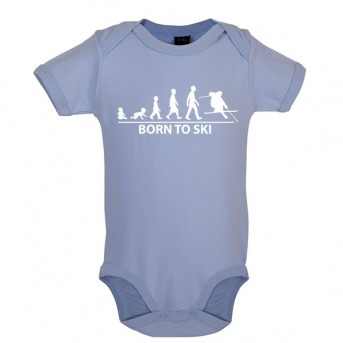 Born To Ski - Baby and Toddler Bodysuit - Blue