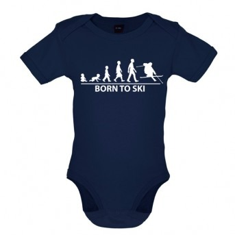 Born To Ski- Baby and Toddler Bodysuit - Navy