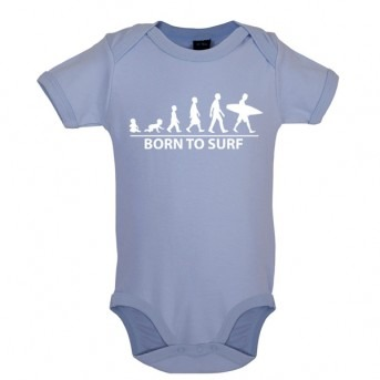 Born To Surf - Baby and Toddler Bodysuit - Blue