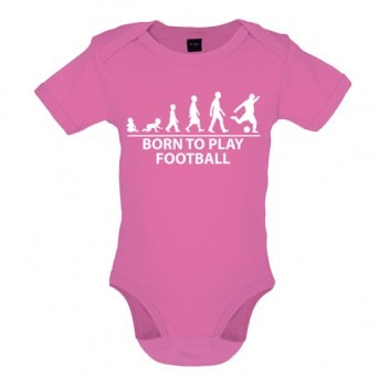 Born to play Football - Baby and Toddler Bodysuit - Pink