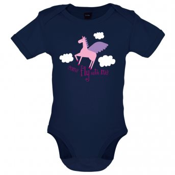 Fly with baby bodysuit navy
