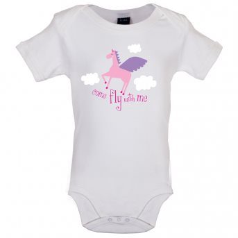 Fly with baby bodysuit white