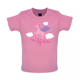 Fly with baby t-shirt pink