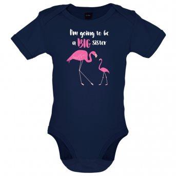 big sister flamingo bodysuit navy