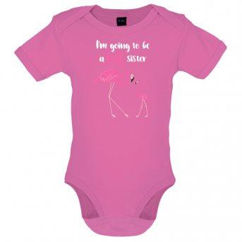 big sister flamingo bodysuit pink