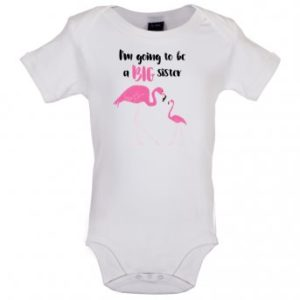 big sister flamingo bodysuit white