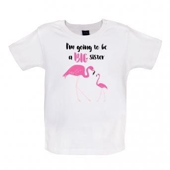 big sister flamingo t-shirt white