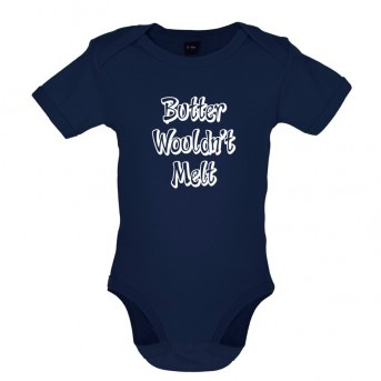 butter baby bodysuit navy
