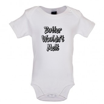 butter baby bodysuit white