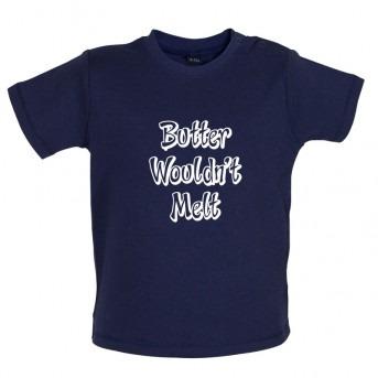 butter baby t-shirt navy