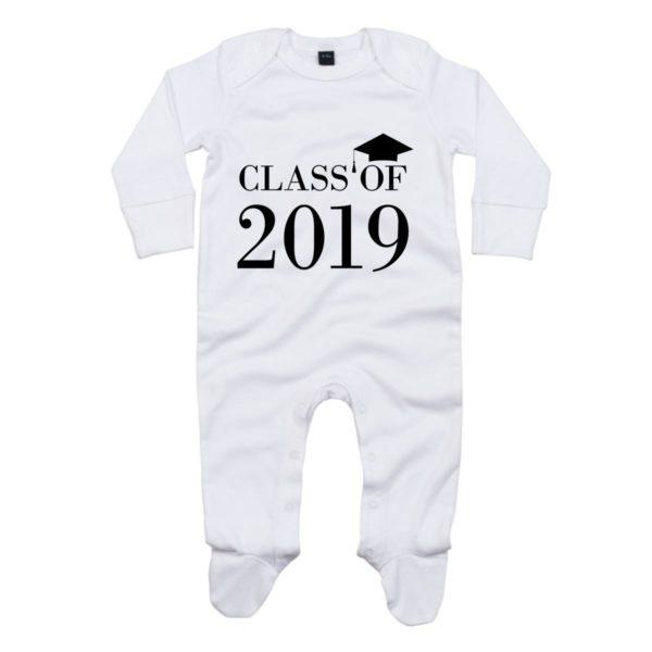 class of 2019 baby sleepsuit
