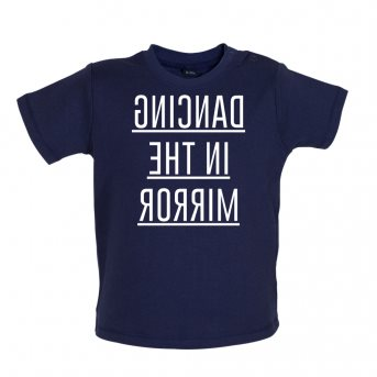dancing baby t-shirt navy