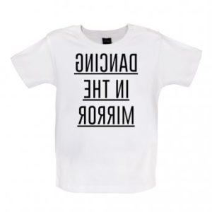 dancing baby t-shirt white