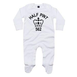 half pint baby sleepsuit