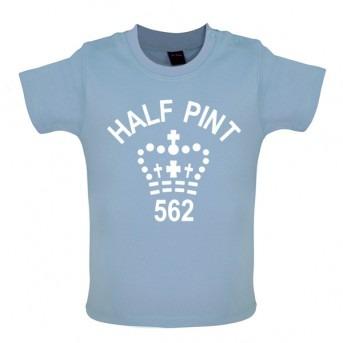 half pint baby t-shirt blue