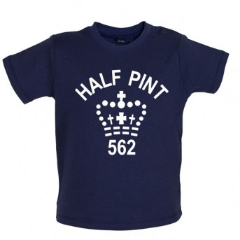 half pint baby t-shirt navy