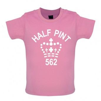 half pint baby t-shirt pink