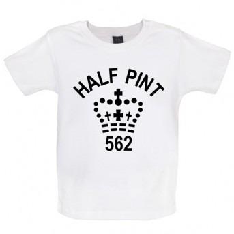 half pint baby t-shirt white