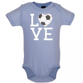i love football bodysuit blue