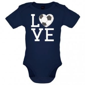 i love football bodysuit navy